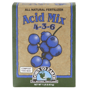 Down To Earth Acid Mix Natural Fertilizer 4-3-6 12ea/1 lb
