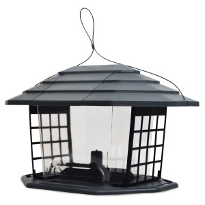 Pennington Earth Smart EcoBistro Bird Feeder Gray 2ea