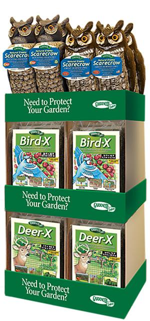 Dalen Gardeneer Scarecrow Bird-X Deer-X Netting Merchandiser Asst Display 1ea