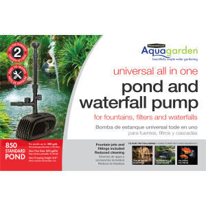 Pennington Aquagarden Universal All-in-One Pond Pump GPH 2ea/850 GPH