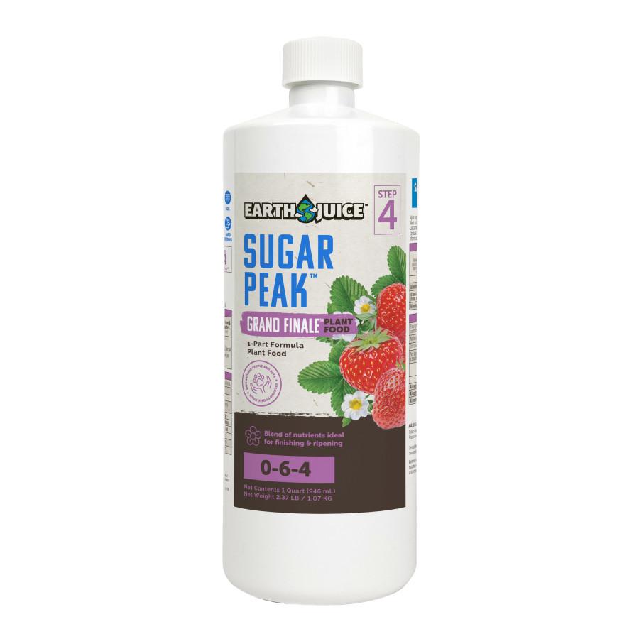 Earth Juice Sugar Peak Grand Finale 0-6-4 Plant Food 12ea/32 oz