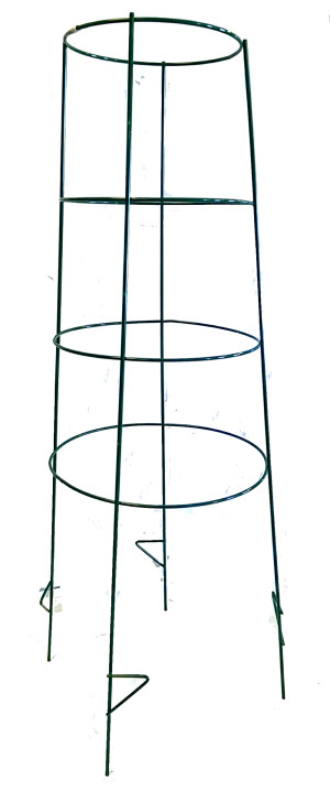 Midwest Wire Works Inverted Cage 4-Leg 4-Ring With Step Extra Heavy-Duty Green 4ea/52 in