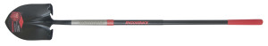 Ames Razor-Back Long Handle Round Point Shovel Fiberglass Handle Black 2ea