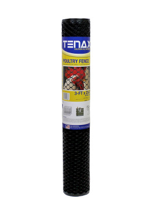 Tenax Poultry Fence Black 9ea/3Ftx25 ft