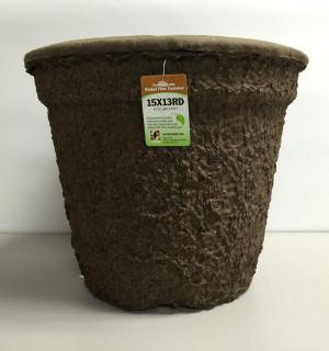 Western Pulp Molded Fiber Round Nursery Container Green 12ea/15Inx13In 6.55 gal
