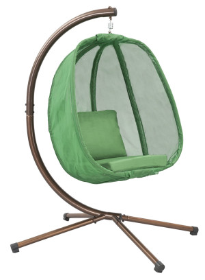 FlowerHouse Hanging Egg Chair with Stand Light Green 1ea/66 In X 34 In X 34 in