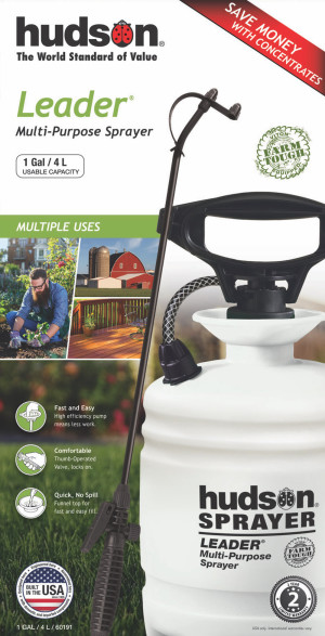 Hudson Leader® Farm Tough™ Poly Sprayer with Viton White 1ea/1 gal