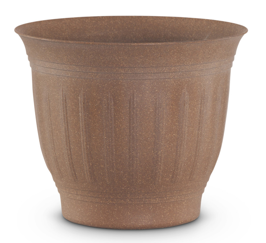 Bloem Colonnade Wood Resin Planter Dark Earth 6ea/12 in