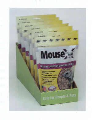 RatX MouseX Pellets Mouse Control Counter Display Tray with Bag 6ea/8 oz