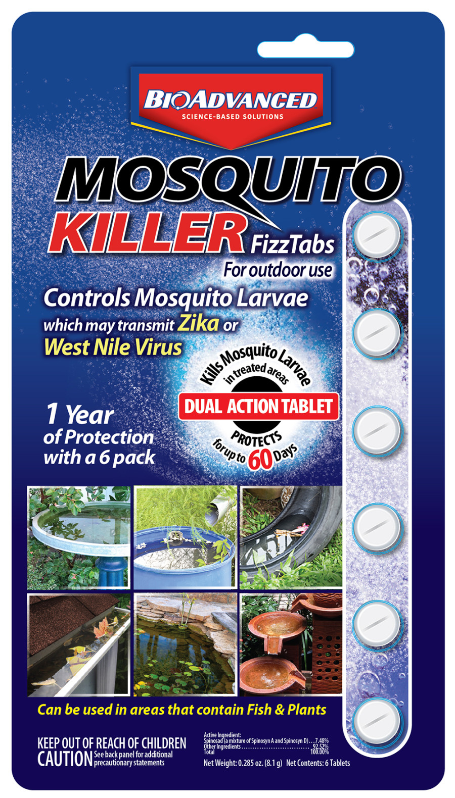 BioAdvanced Mosquito Killer Fizz Tabs 12ea/0.285 fl oz