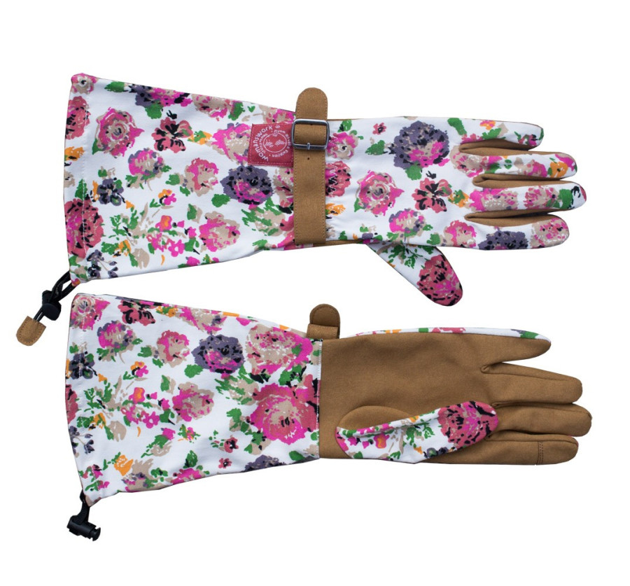Womanswork Floral Glove with Arm Saver Pink 6ea/Medium