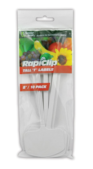 Luster Leaf Rapiclip Tall 'T' Labels White 12ea/10Pk 8 in