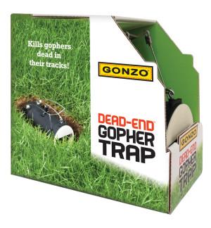 Gonzo Dead-End Mole & Gopher Trap Black 12ea/3.5 In X 6.5 in