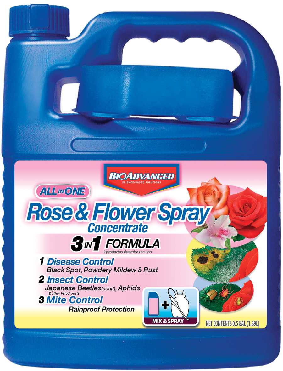 BioAdvanced All-In-One Rose & Flower Spray Concentrate 4ea/.5 gal