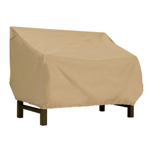 Classic Accessories Terrazzo Patio Bench/LoveSeat Cover Brown 1ea/Large