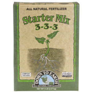 Down To Earth Starter Mix All Natural Fertilizer Organic 3-3-3 6ea/5 lb