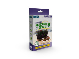 Back to the Roots Organic Microgreens Grow Kit Value Pack w/ Clipstrip Rainbow Mix 12ea