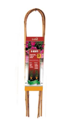 Bond Packaged Bamboo U-Hoops Trellis U Hoop Brown 15ea/3 ft