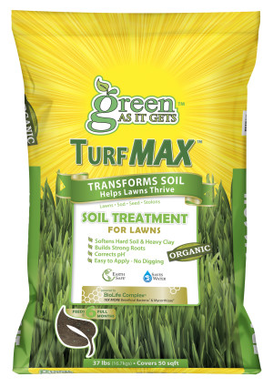 Green As It Gets TurfMAX Soil Treatment for Lawns 1ea/37 lb