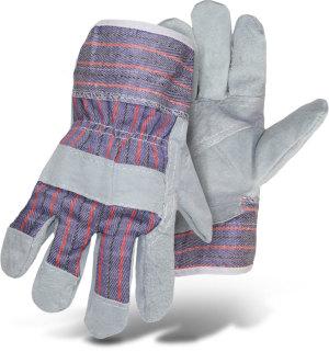 Boss Economy Split Leather Palm Glove Grade Large Blue, Grey 12ea/Large