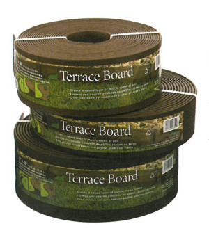 Master Mark Terrace Board Edging Brown 1ea/5Inx40 ft