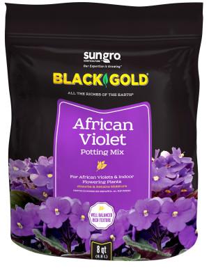 Black Gold African Violet Potting Mix 8ea/8 qt
