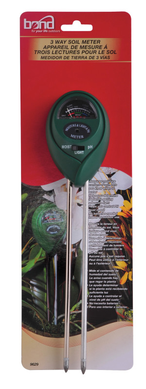 Bond 3 Way Soil Meter Green 12ea