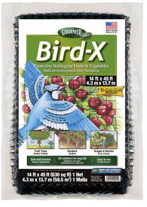 Dalen Gardeneer Bird-X Protective Netting Black 6ea/14Ftx45 ft