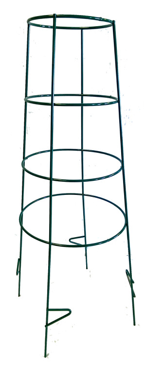 Midwest Wire Works Inverted Cage 4-Leg 4-Ring With Step Extra Heavy-Duty Green 5ea/44 in