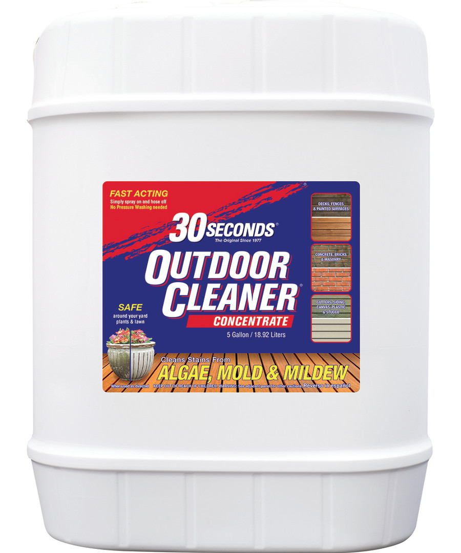 30 Seconds Outdoor Cleaner Algae Mold & Mildew Concentrate 1ea/5 gal