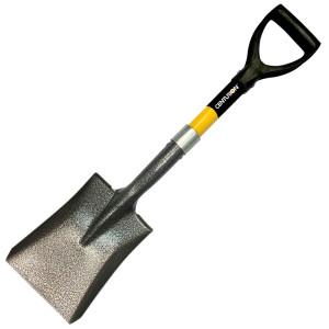 Centurion Shorty Shovel D-Grip Fiberglass Handle Square Point Yellow 6ea/20 in