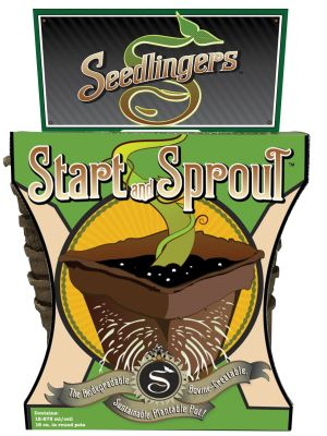 Messina Seedlingers Start & Sprout Pot #3 Round 12ea/12 pk