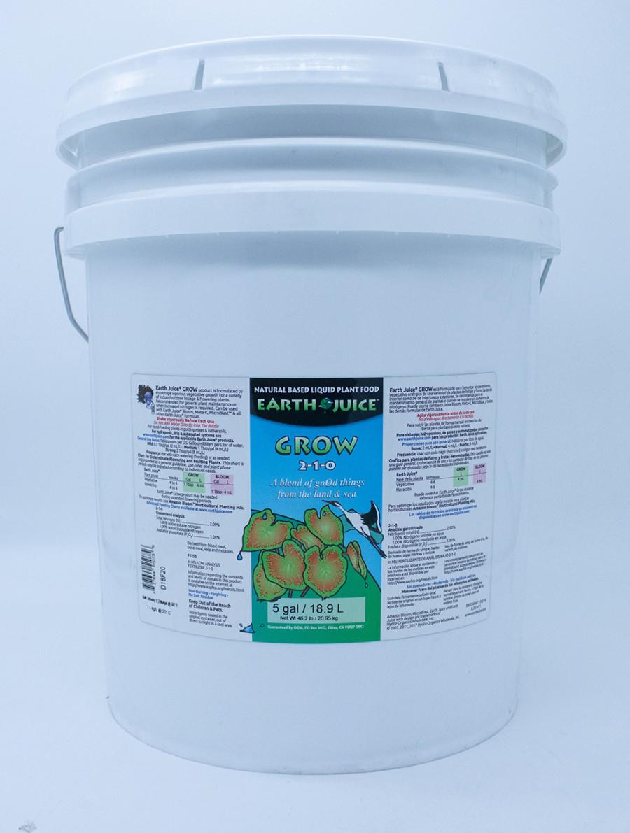 Earth Juice Grow 2-1-0 1ea/5 gal