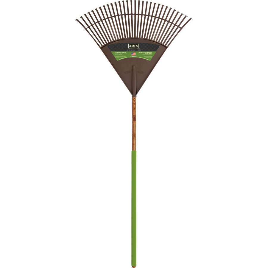 Ames Poly Leaf Rake with Ash Handle 12ea/30 in