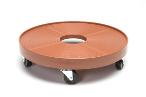 DeVault Plant Dolly with Hole Terra Cotta 8ea/16 in