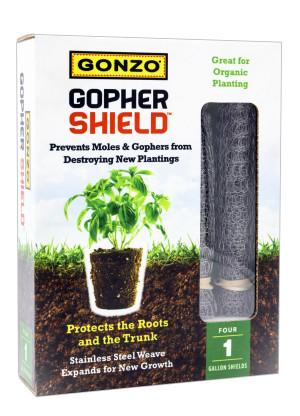 Gonzo Gopher Shield for Moles, Gophers & Voles Steel Silver 6ea/4Pk 12Inx8In 1 gal