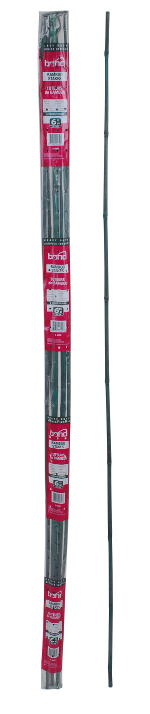 Bond Heavy Duty Packaged Bamboo Stakes 6pk Green 40ea/3/4inx6 ft