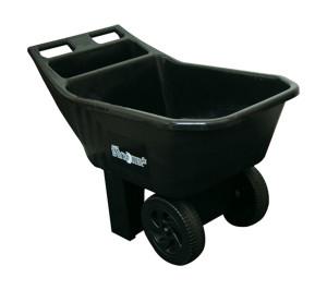 Ames Easy Roller Jr. Poly Yard Cart Black 1ea/26 In X 20 In X 37.5 in