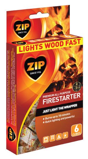 Zip All Purpose Firestarter Cubes 6ea/6 ct