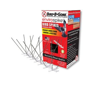 Bird-B-Gone Plastic Bird Spikes Clear 6ea/10 ft