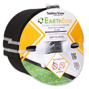 Valley View Earth Edge Rubber Edge And Poly Nails Black 4ea/5 In X 8 ft