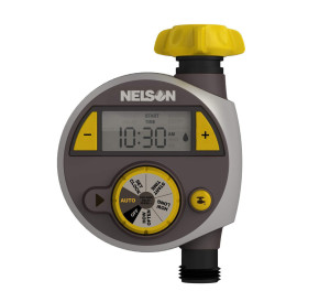 Nelson Single Outlet Electronic Water Timer Grey 3ea