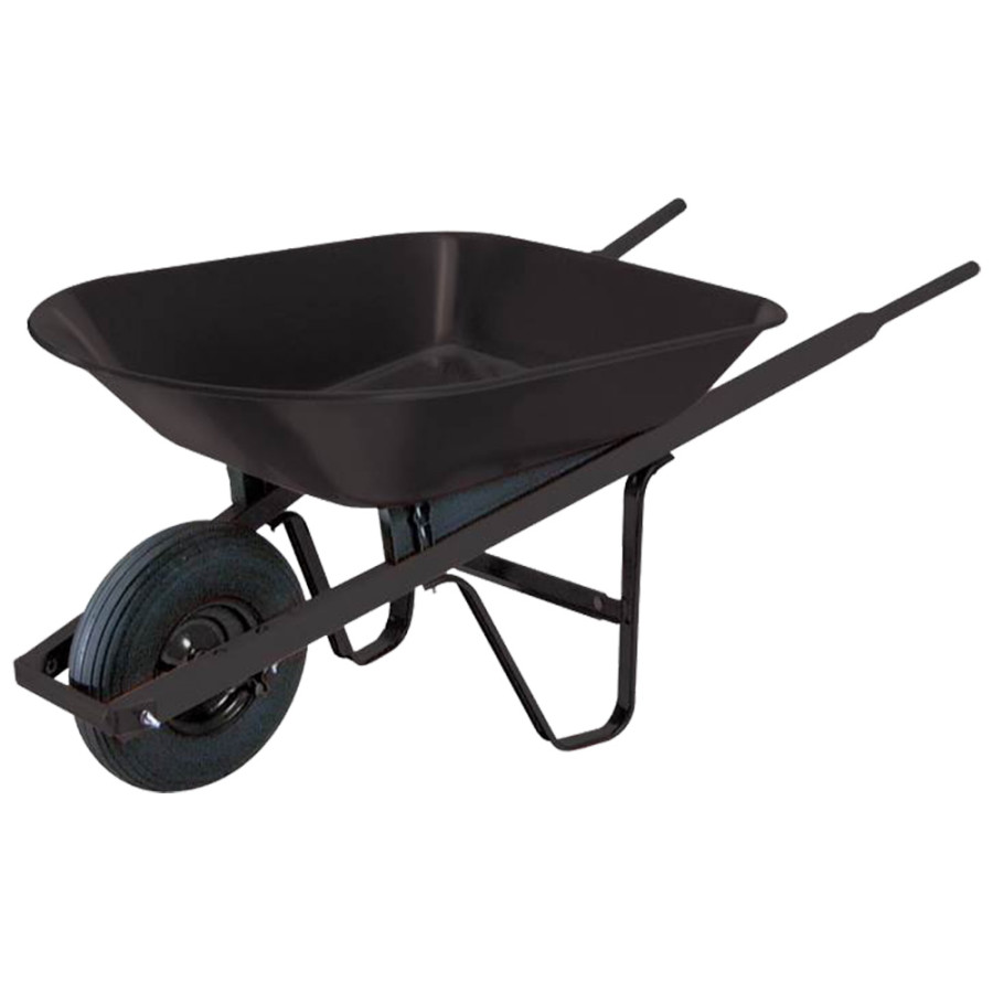 Union Tools Steel Tray Wheelbarrow Black 1ea/4Cuft