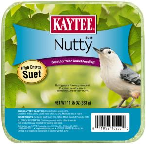 Kaytee Nutty High Energy Suet 12ea/11.75 oz