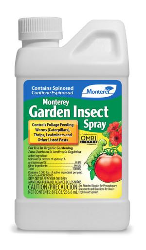 Monterey Garden Insect Spray Liquid Insecticide Concentrate Organic 12ea/8 oz