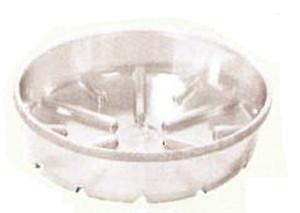 Bond Deep Dish Plastic Saucer Clear 25ea/11 in