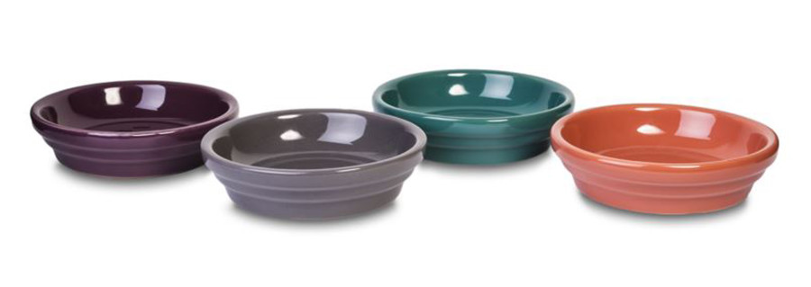 Pennington Electric Saucer Assortment Exotic Retreat Apricot Brandy, Green Blue Slate, Amethyst, Dark Gull Grey 18ea/4 in