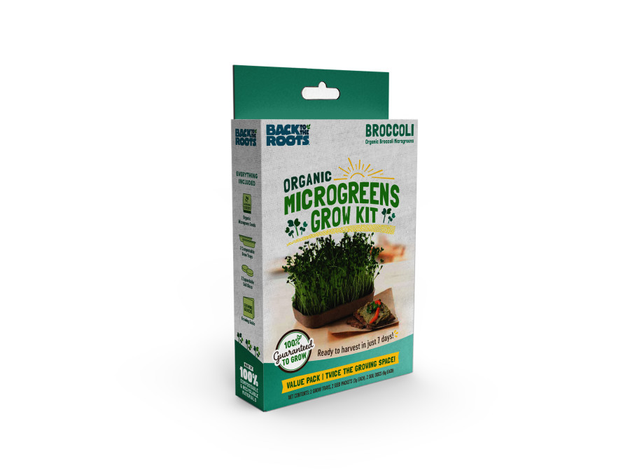 Back to the Roots Organic Microgreens Grow Kit Value Pack w/ Clipstrip Broccoli 12ea