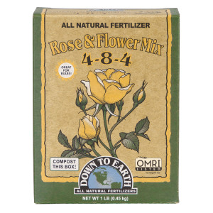 Down To Earth Rose & Flower Mix All Natural Fertilizer 4-8-4 12ea/1 lb