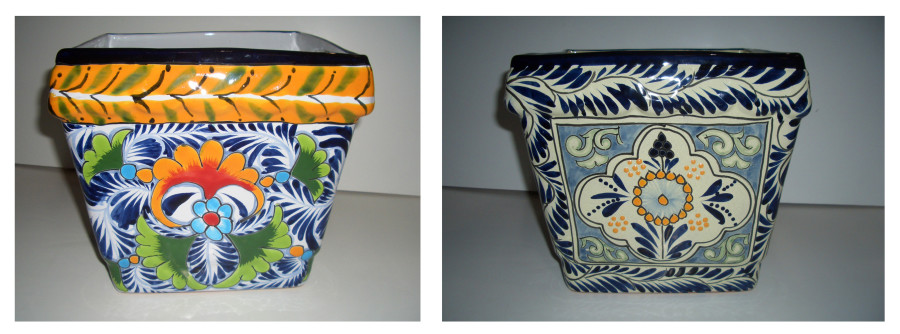 Talavera Square Planter